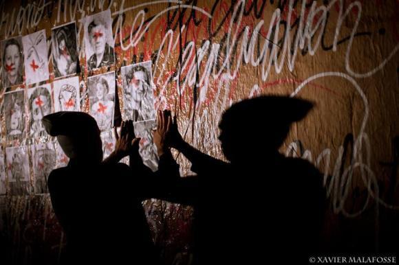Un hommage aux femmes de la Résistance, lors du spectacle Mémento.