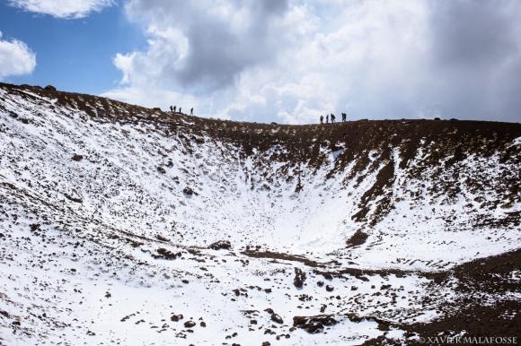 Une vue du Monte Silvestri Superiore (2000 m), sur le flanc Sud de l'Etna, mars 2014.