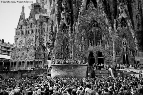 Parvis de la Sagrada Família, Barcelone, le 8 juin 2014.